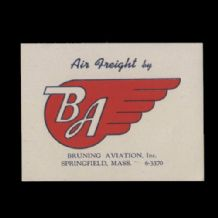 VintageAirline label BA small company luggage label #502